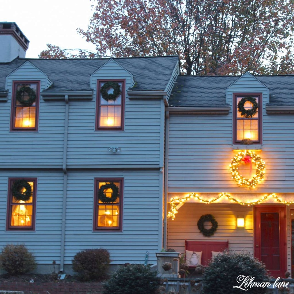 Christmas Home Tour 2015 candle light wreath