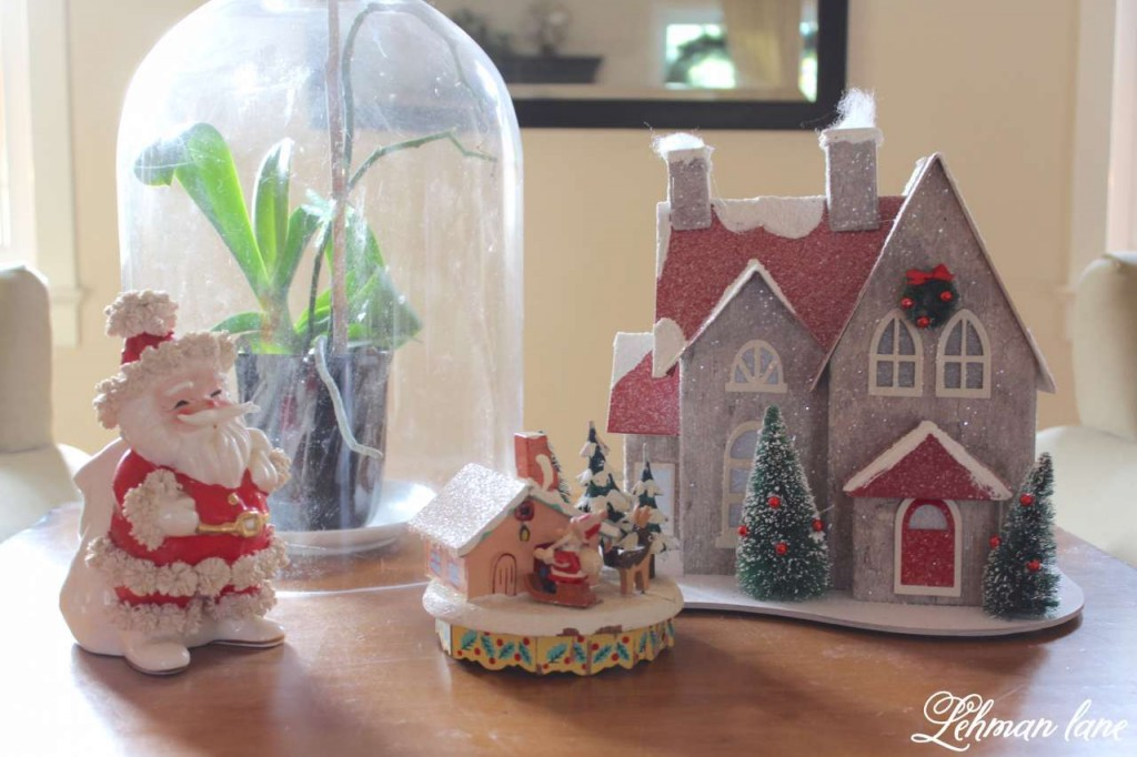 Christmas Home Tour 2015 vintage santa holiday house