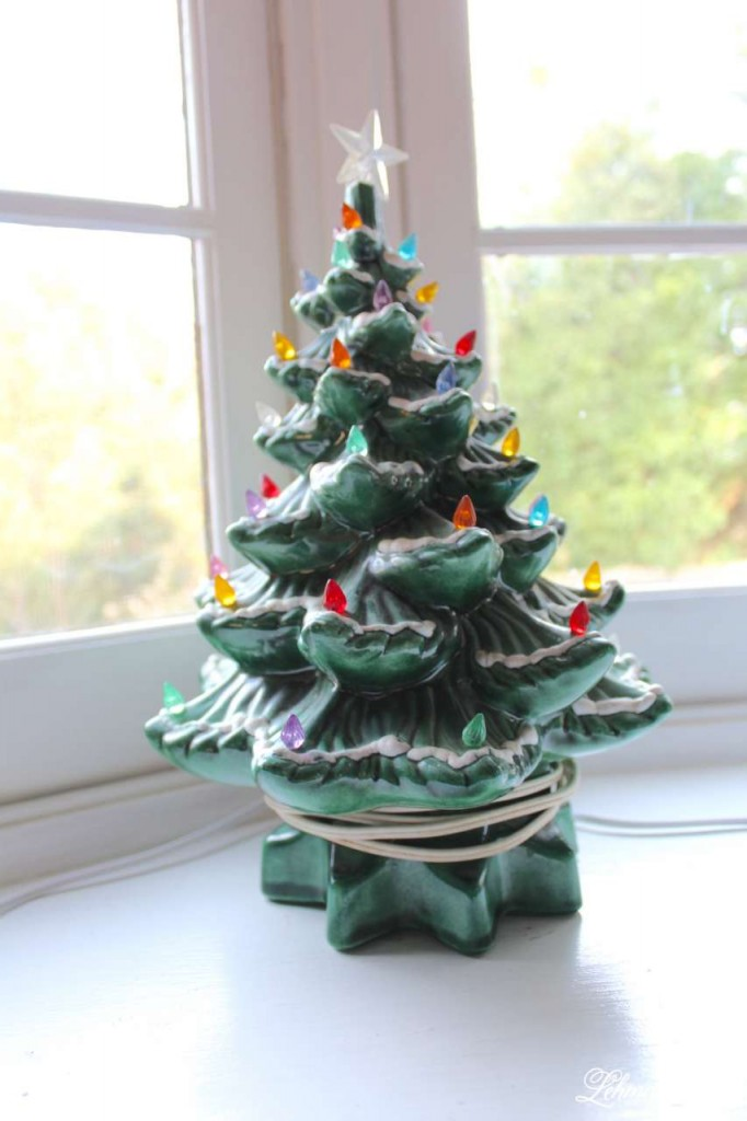 Christmas Home Tour 2015 vintageceramic tree