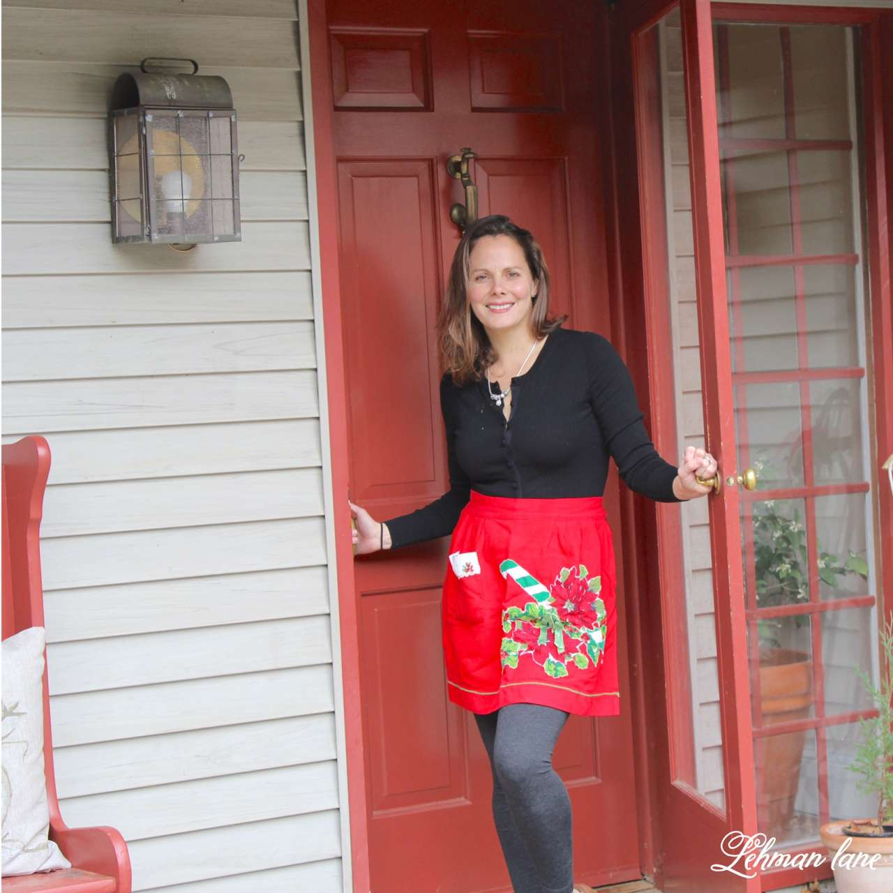 Christmas Home Tour 2015 apron