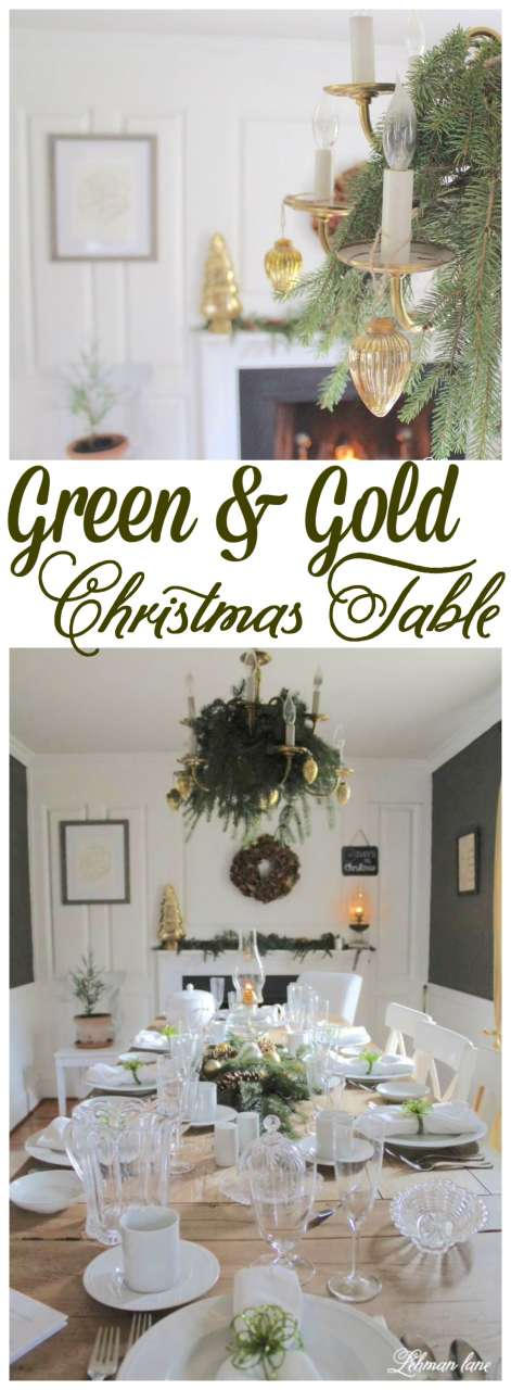 Setting a formal Christmas Table can seem intimidating. Stop by to see how simple it is to create a gorgeous Christmas Dining Room and Table! #christmas #christmastable 3diningroom Http://lehmanlane.net