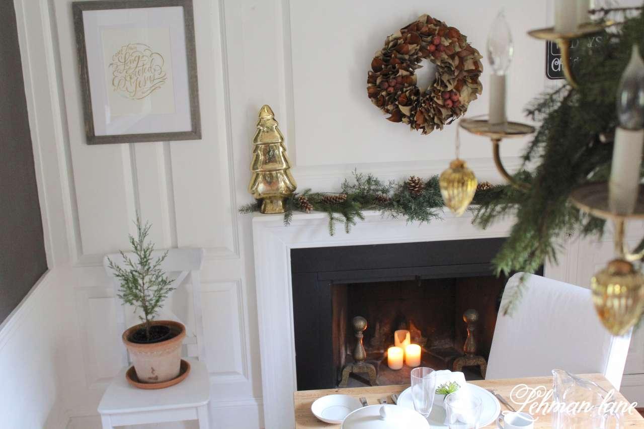 green gold christmas dining room lehman lane green and gold christmas dining room and holiday home hop