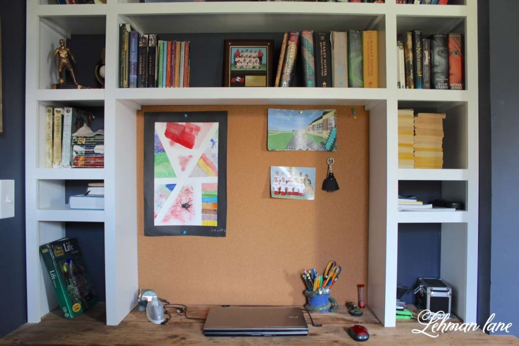 DIY - Come check out the built in desk we added to our son's bedroom