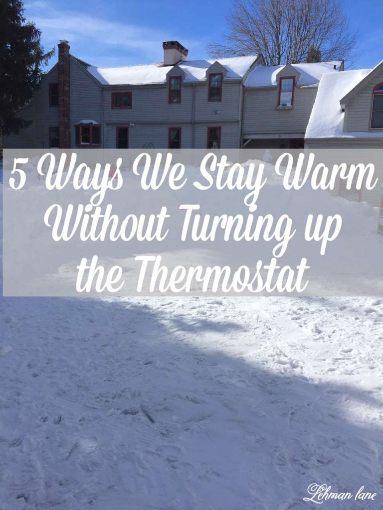 Come check out 5 Ways We Stay Warm in Winter Without Turning Up the Thermostat