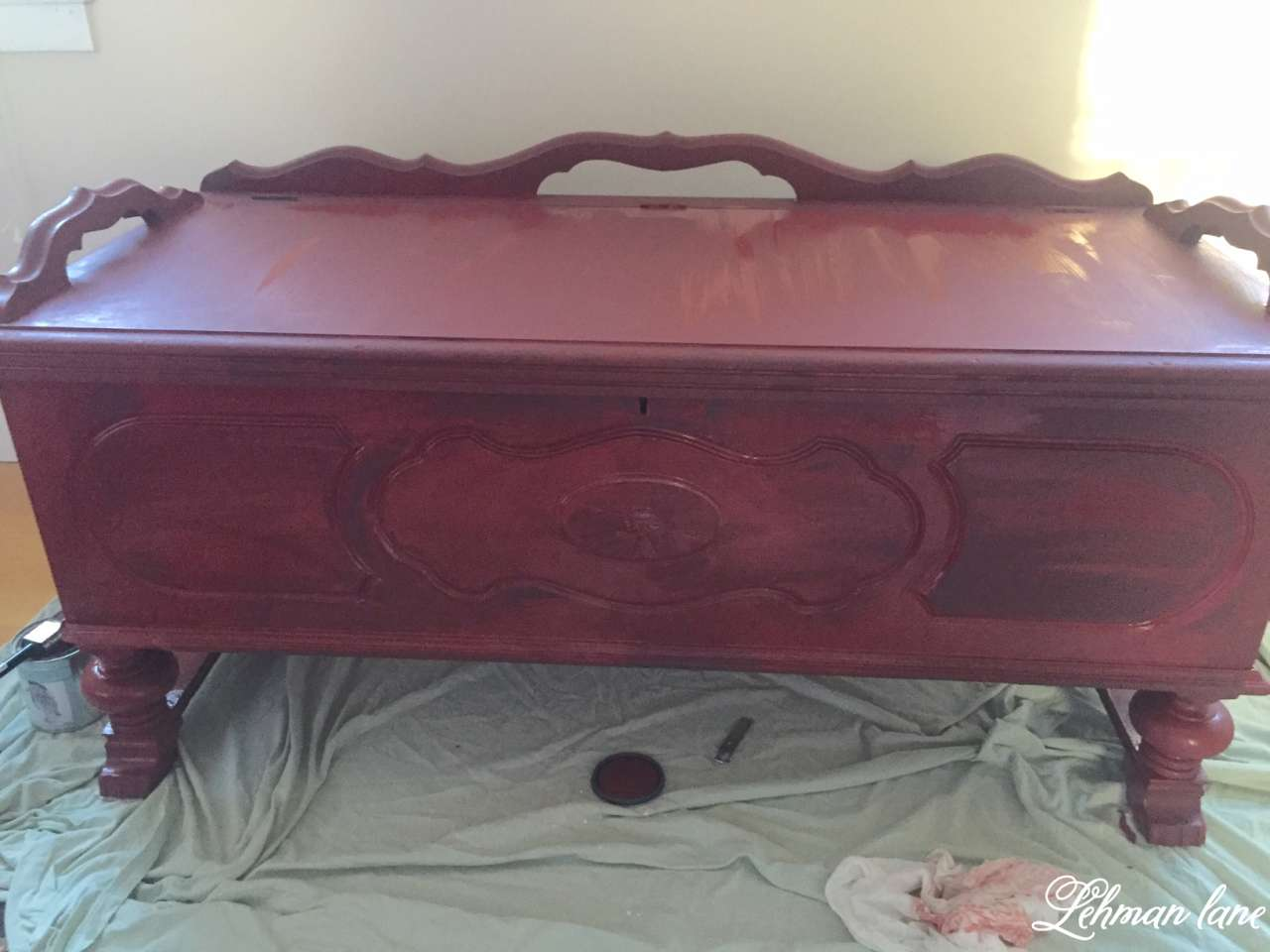Come check out the cedar chest I painted using Wise Owl Chalk Paint Republic Red as part of the Create and Share Monthly Challenge