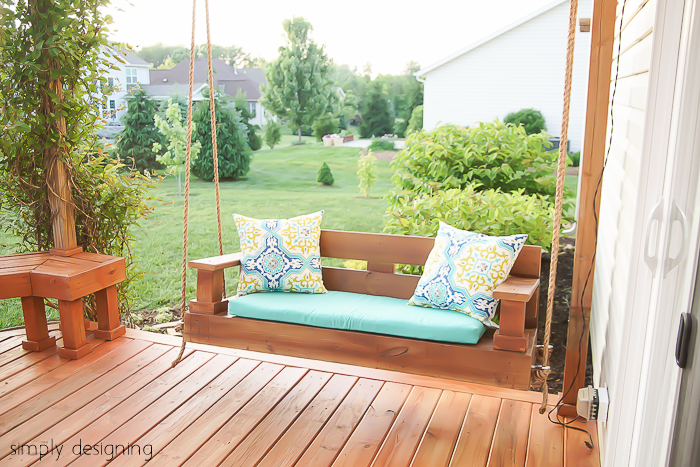Simple nature decor for Easy porch swing