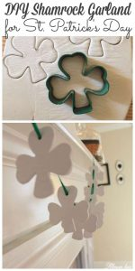 Sharing a simple shamrock garland craft just in time for St. Patrick's day #shamrock #stpattysday http://lehmanlane.net