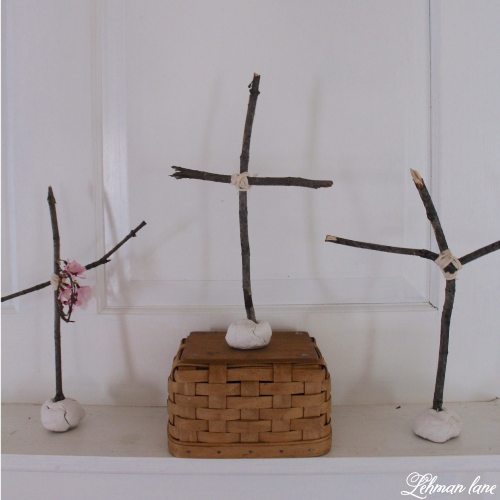 To celebrate the miracle of Easter we made a simple craft craft using supplies we already had on hand!