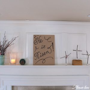 Come check out the simple Easter mantel I created using supplies I already had on hand