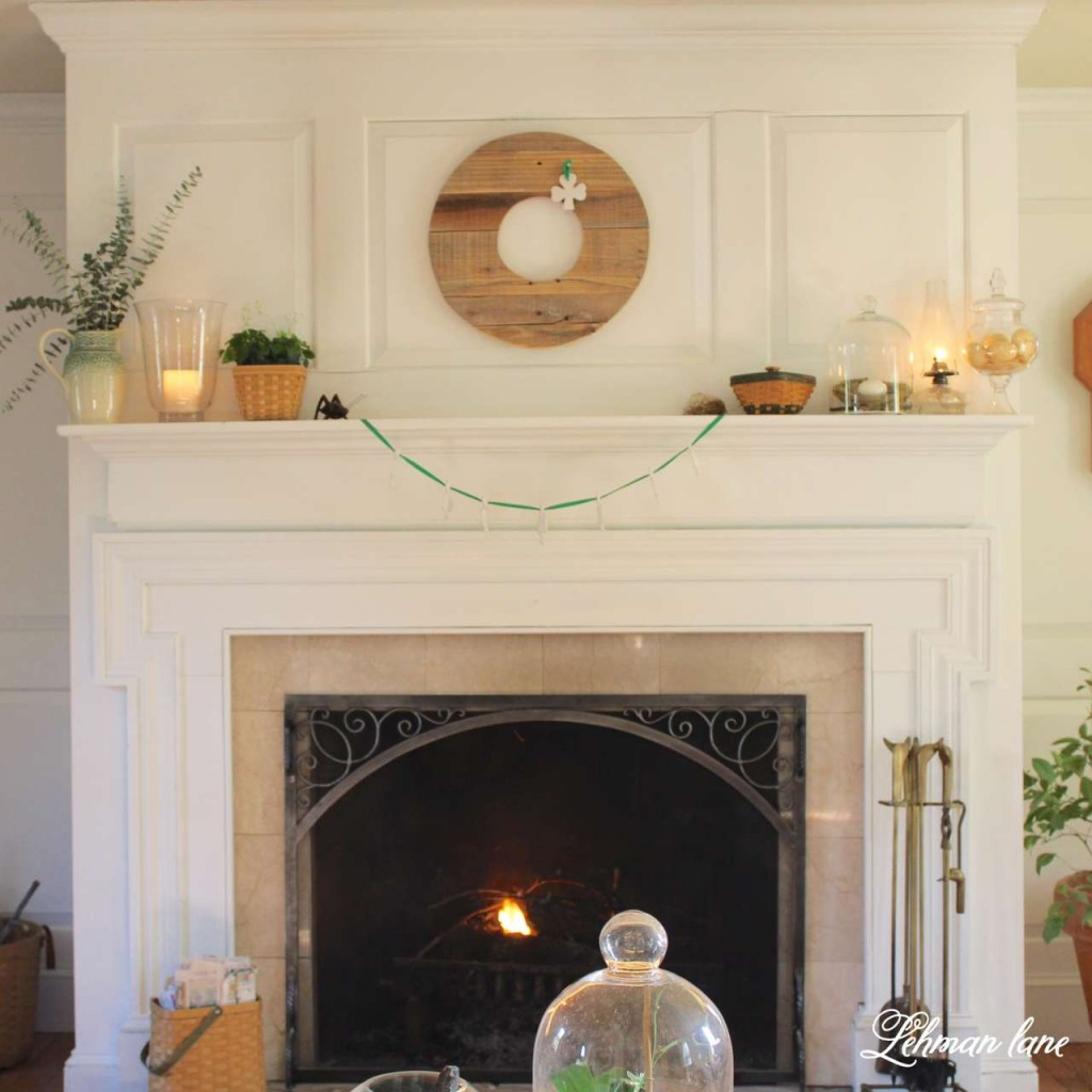 I am sharing my green St. Patrick's day tour with many of my blogging friends! Come check out how I decorated my house accented by shamrocks and green in our living room