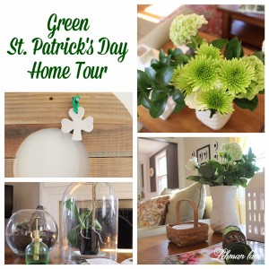 Come check out my St. Patrick's day home tour inspired by shamrocks and the color green!