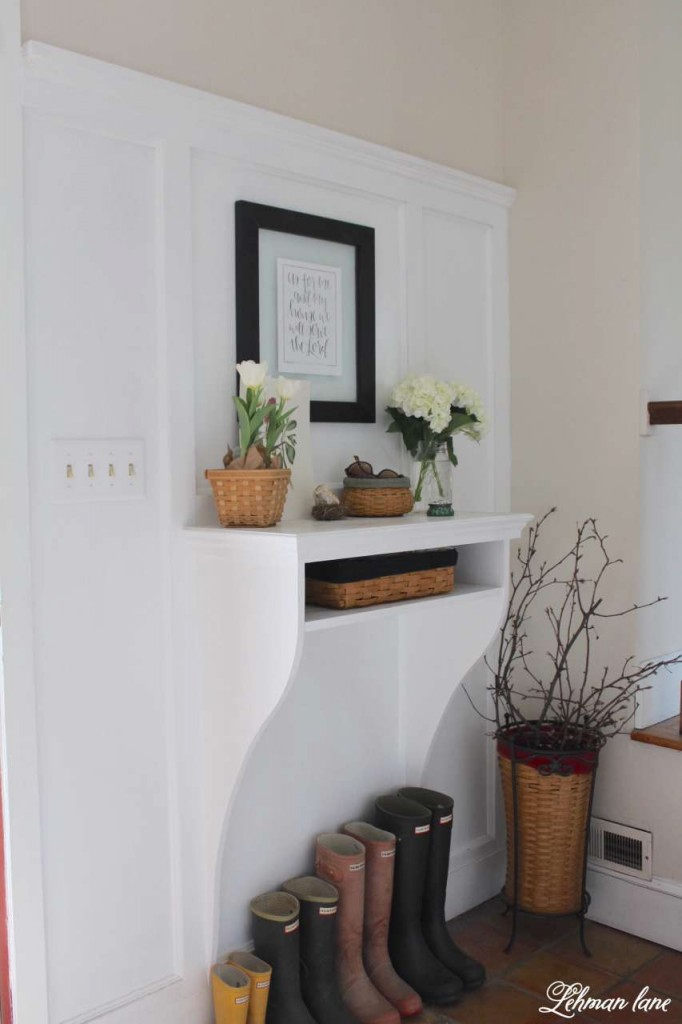 Spring Home Tour 2016 - Spring Fling tour hop - entryway table