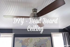 Ryan's Room - One Room Challenge - Week 2 - Demo, Bead board Ceiling, Wide Pine floors and Paint