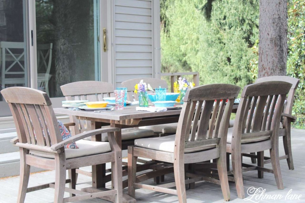 Spring Patio Table Scape & Refresh with Big Lots - Lehman Lane