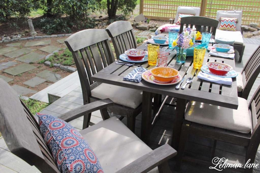 Patio Refresh - Spring Outdoor Tablescape #shop