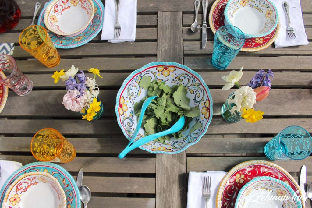 Patio Refresh - Spring Tablescape #shop