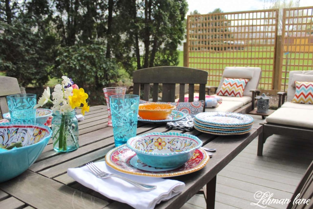 Spring Tablescape - Patio Refresh #shop