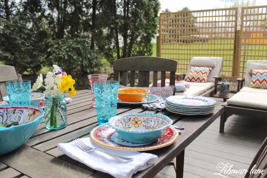 Spring Tablescape - Patio Refresh #shop