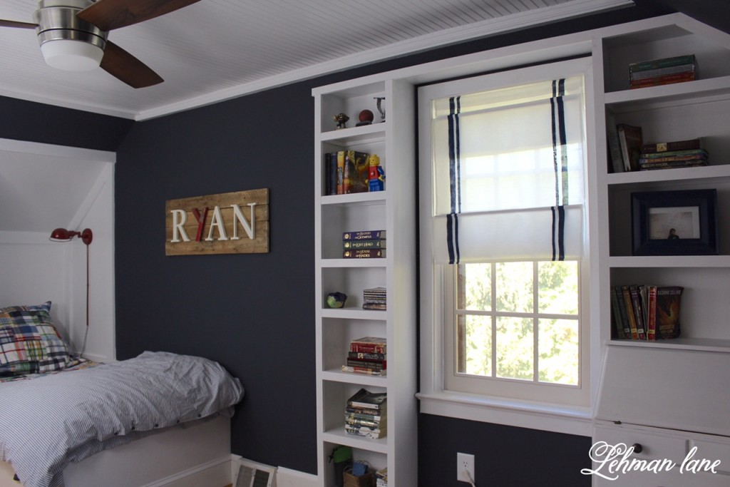 boys blue bedroom. Final Reveal - Boys Farmhouse Bedroom, Built In Bed, Dresser, Bead Board Ceiling Blue Bedroom