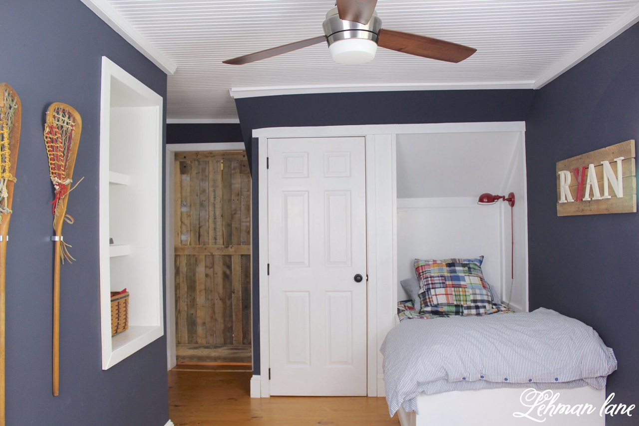 Final Reveal - Ryan\'s Built in Boys Blue Bedroom - One Room ...