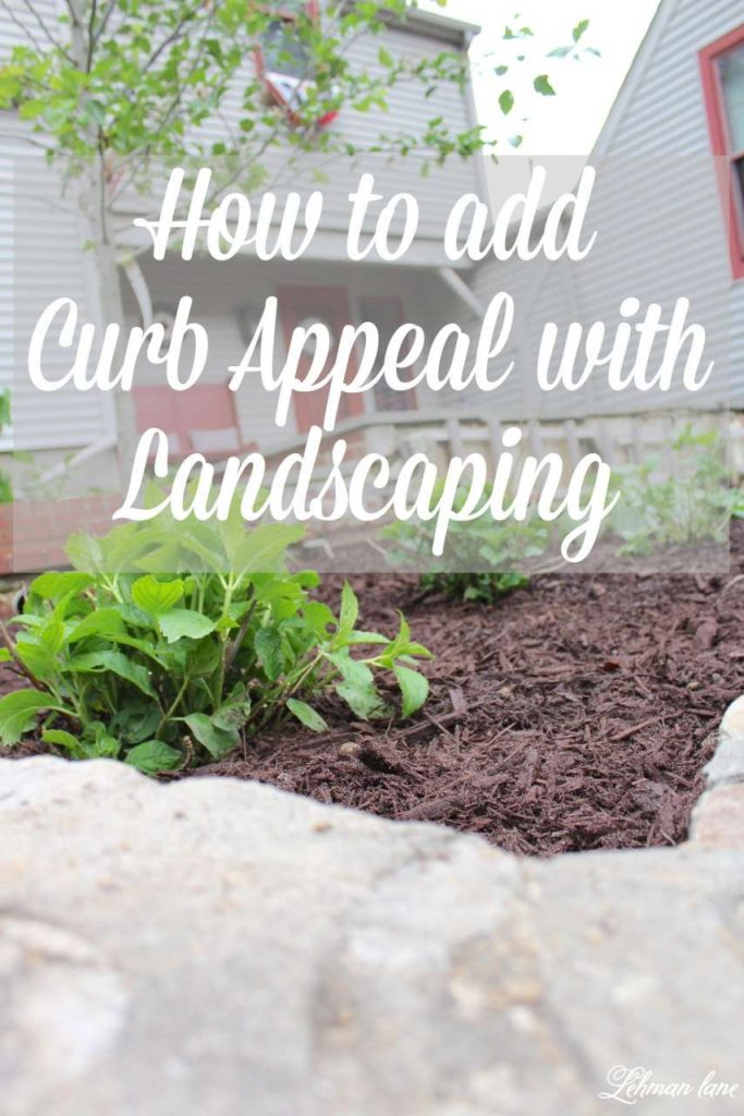 One great way to add curb appealin through landscaping. See how I maximized my curb appeal through landscaping by moving what shrubs we already had and choosing a few new ones. Also check out 10 more curb appeal ideas from my friends! http://lehmanlane.net