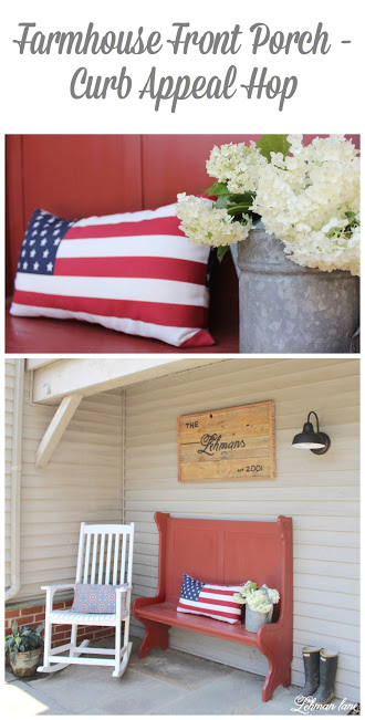 Over the last month my blogging friends and I challenged each other to up the curb appeal of our homes. Stop by to see how we changed up the landscaping, added diy lattice, added a new porch light and decorated our farmhouse front porch http://lehmanlane.net