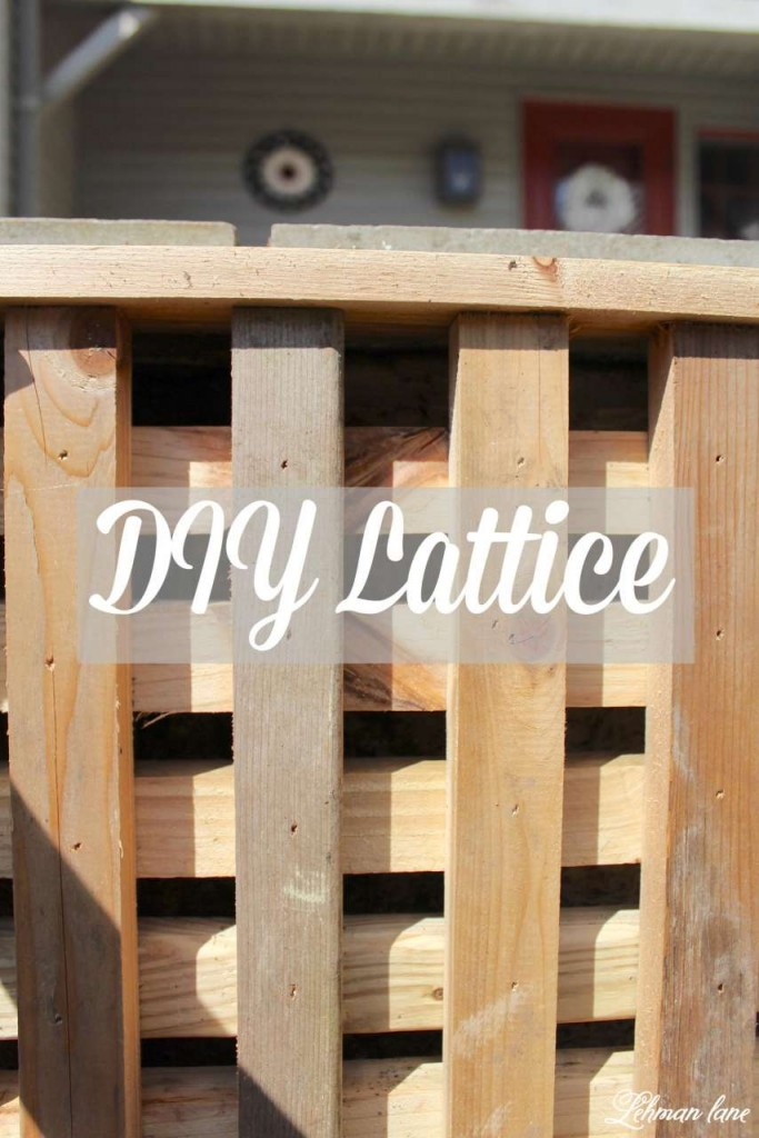 We created this DIY lattice to hide an ugly cement wall on our front porch!