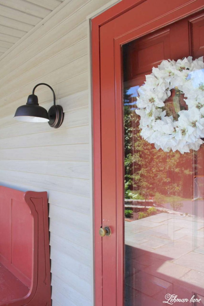 New Barn Porch Light for Farmhouse Front Porch, Curb Appeal Hop, Lamps Plus
