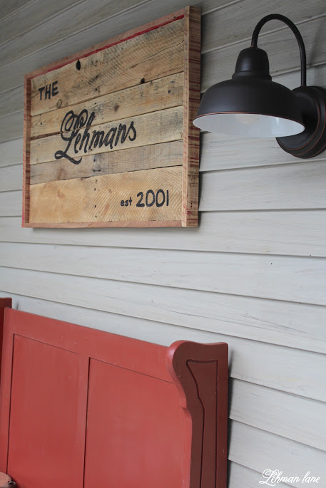 A DIY Pallet Sign for the front porch adds so much character to the front of our home. And the best part is it was totally free to make, learn how to make yours today! http://lehmanlane.net