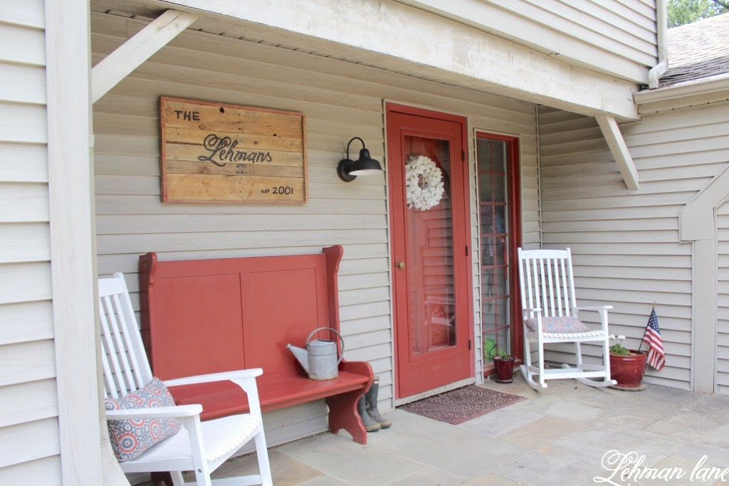 A DIY Pallet Sign for the front porch adds so much character to the front of our home. And the best part is it was totally free to make, learn how to make yours today!