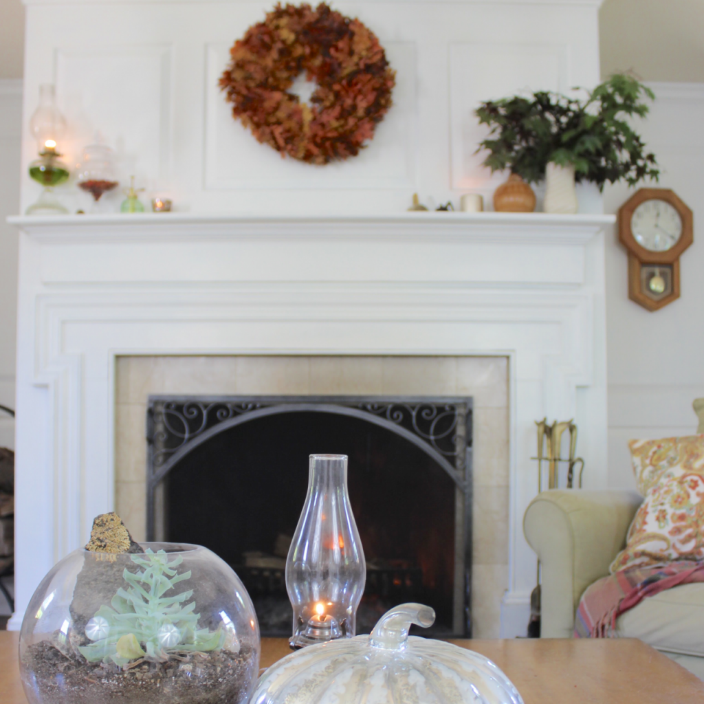 Fall decorating Ideas- Home for fall e-book = 4 Steps to a Successful Fall Mantel