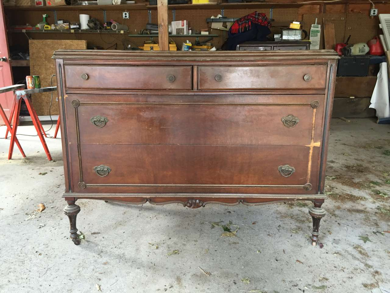 Before - Antique farmhouse dresser