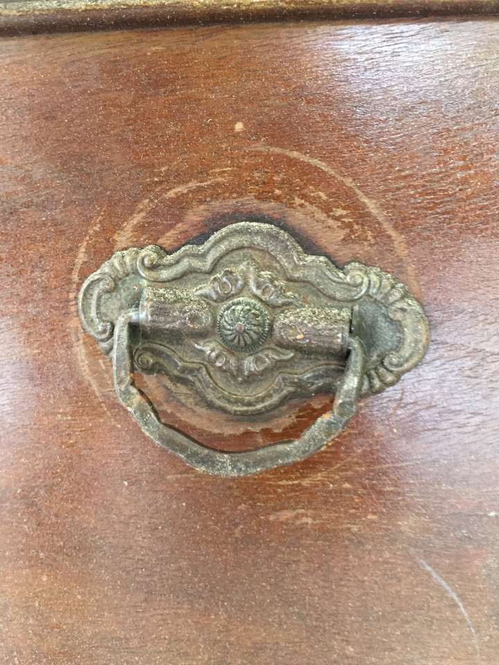 before knob -Antique farmhouse dresser