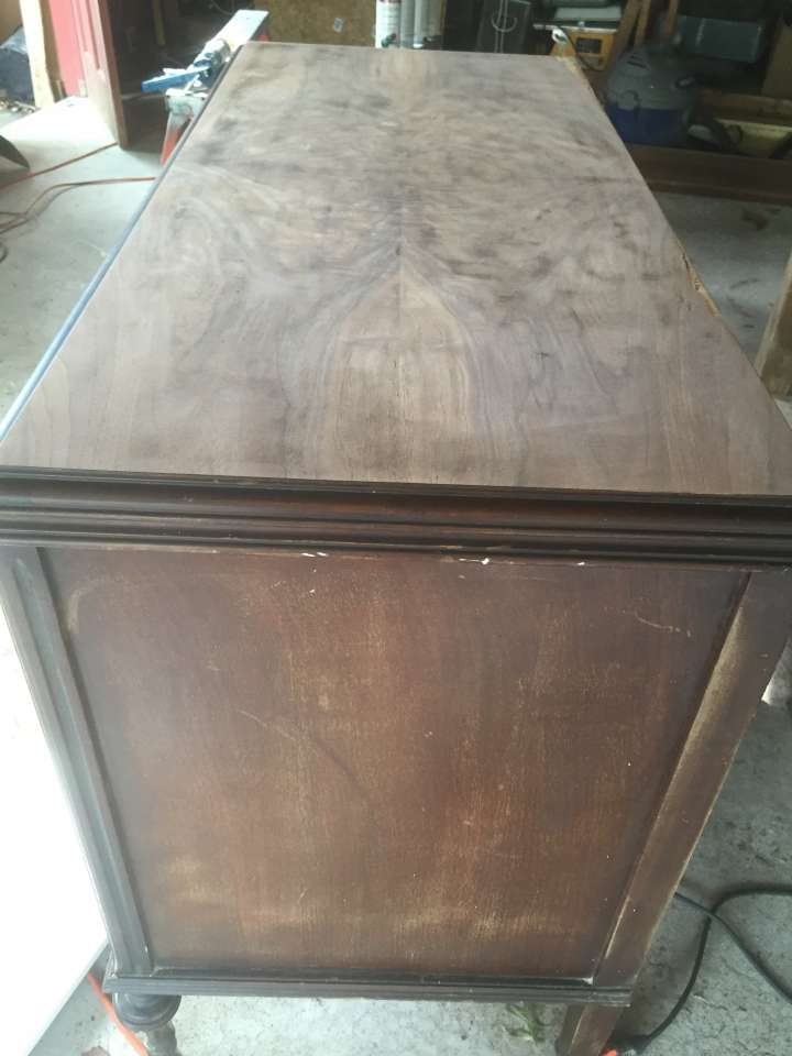 Sanding Antique farmhouse dresser