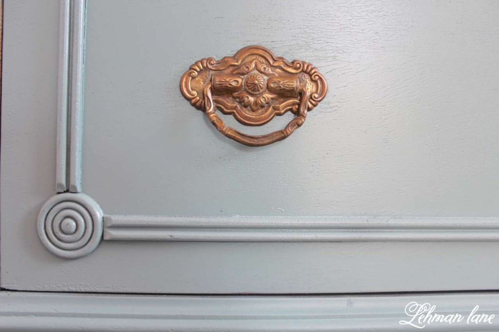 Shiny knob Antique farmhouse dresser redo
