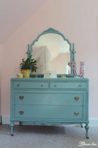 dresser with mirror - antique farmhouse dresser