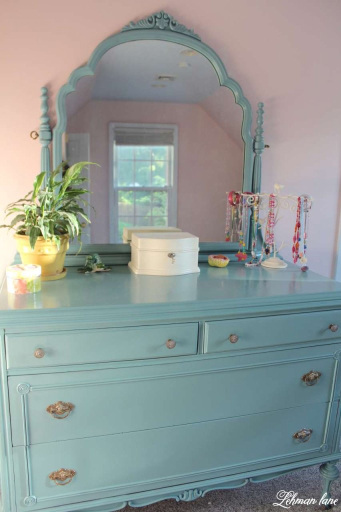 Mirrored dresser - antique farmhouse dresser redo