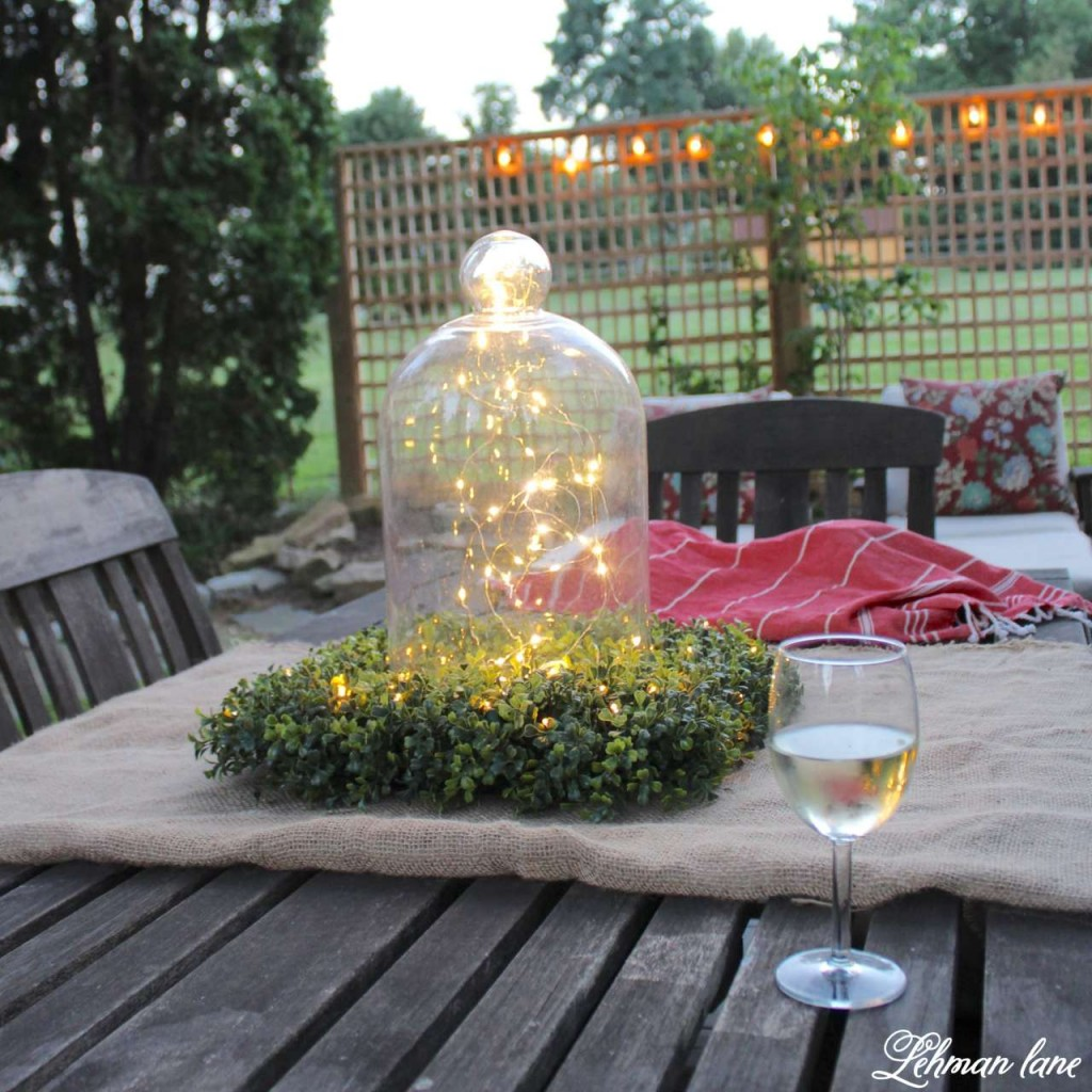 Summer Garden Party on the Deck #balsamhill #SummerHouseWalk LightUpTheNight2016