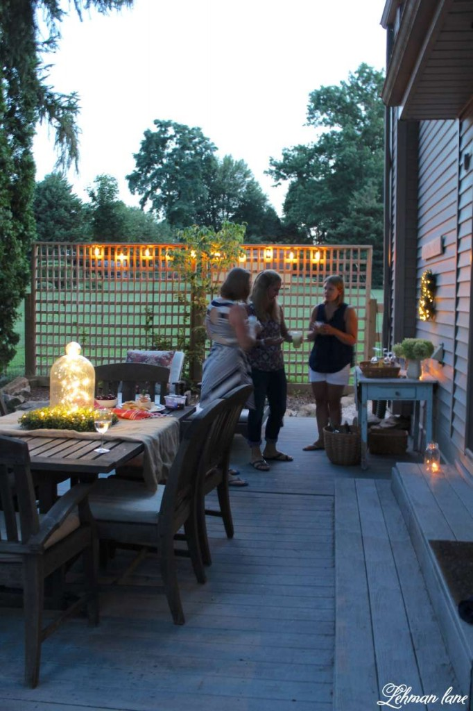Summer garden Party on the deck with Balsam Hill -
