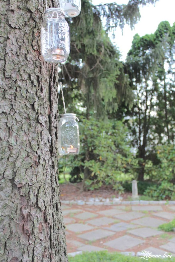 Learn how to make a simple mason jar lantern in under a minute using supplies you probably already have at home.