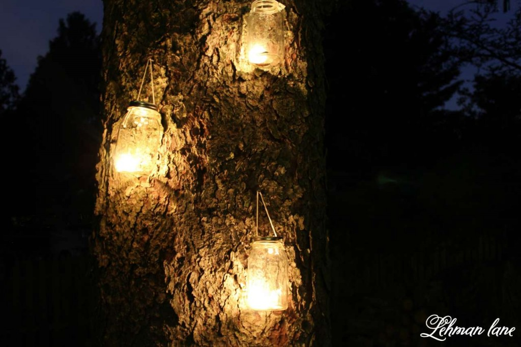 Learn how to make a simple DIY mason jar lantern in under a minute using supplies you already have at home. Perfect for a summer garden party!