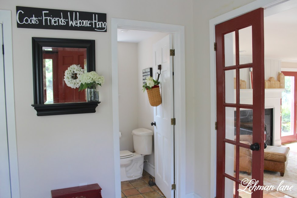 farmhouse summer tour - entryway