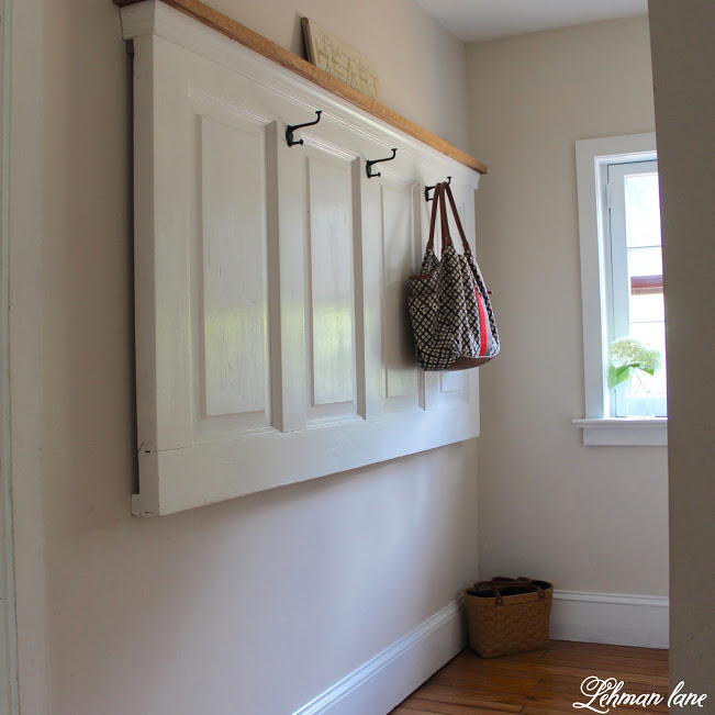 farmhouse summer tour old door coat rack