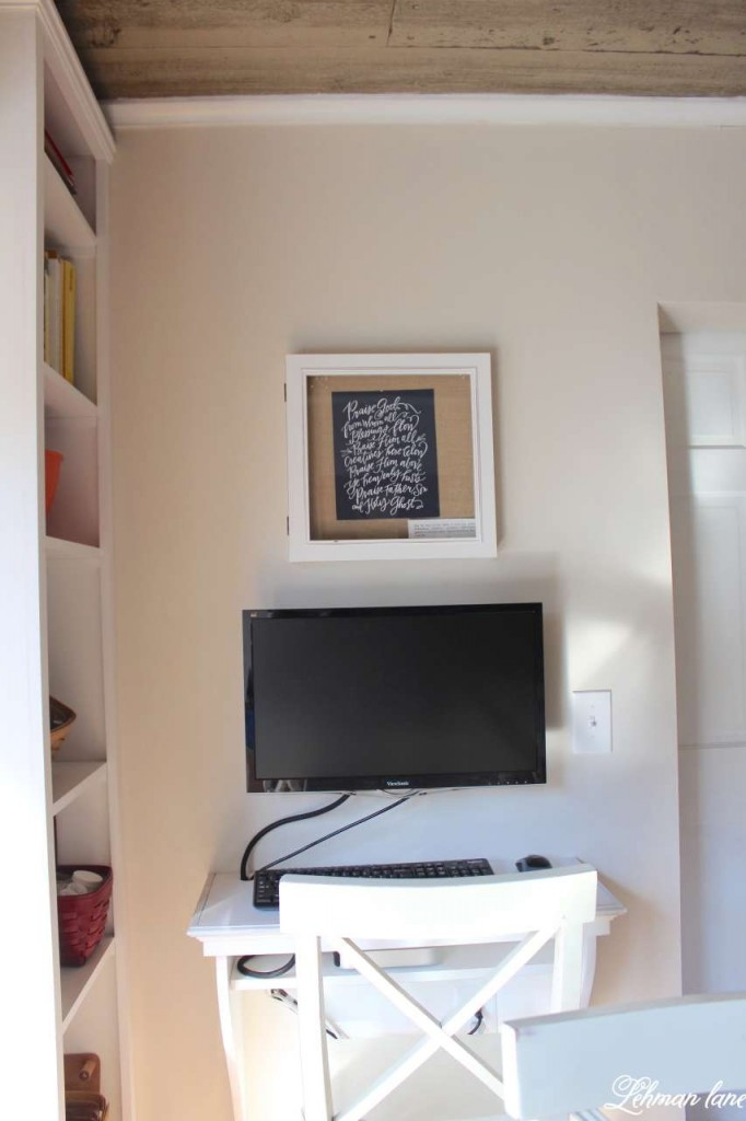 Learn how we created this DIY kitchen desk to add some extra workspace for our kitchen