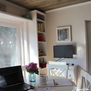 Stop by to see how we created this awesome DIY built in desk and bookcases to make a much more functional homework and work space for our family