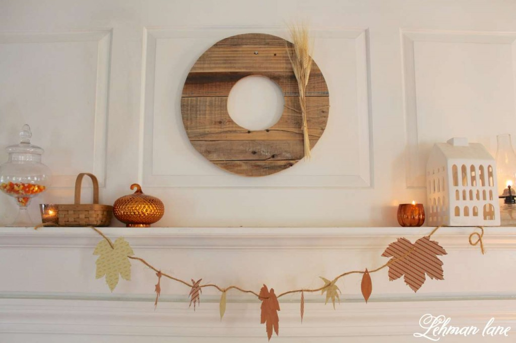 Fall mantel Decor & DIY Fall Garland