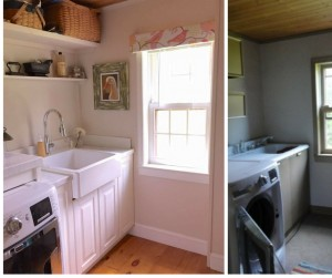 Stop by to see all the progress we made for our farmhouse fixer upper! laundry room