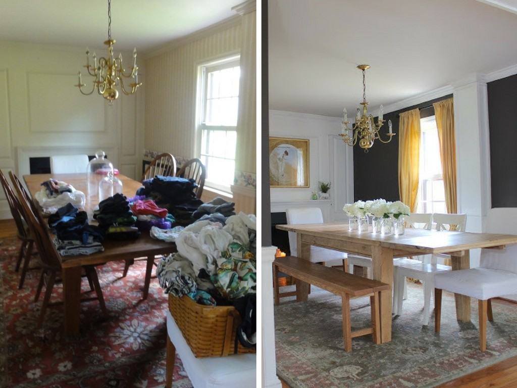 Stop by to see all the progress we made for our farmhouse fixer upper! dining room