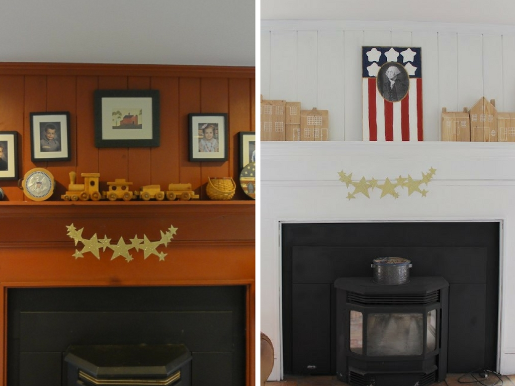 Stop by to see all the progress we made for our farmhouse fixer upper! fireplace