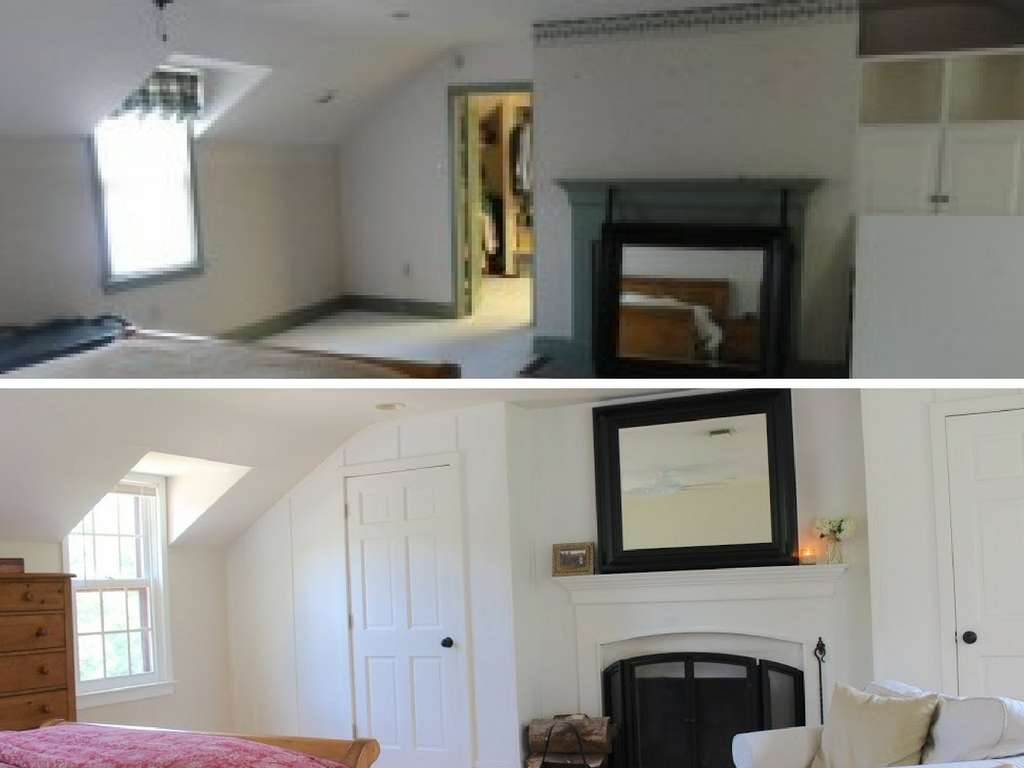 Stop by to see all the progress we made for our farmhouse fixer upper! master bedroom